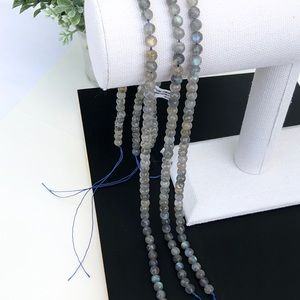 6mm Genuine Natural Labradorite Faceted Beads Blue